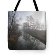 Foggy River Tote Bag
