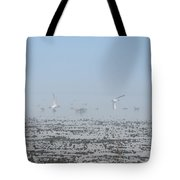 Foggy Seabirds Parksville Beach Tote Bag