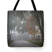 Foggy Street Tote Bag