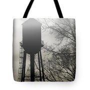 Foggy Tower Silhouette Tote Bag