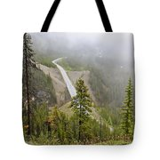 Foggy View From Icefields Parkway Tote Bag