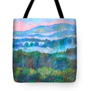 Foggy View From Mill Mountain Tote Bag
