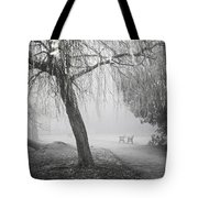 Foggy Willow Tote Bag