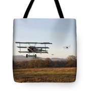Fokker Dr1 - Day's End Tote Bag by Pat Speirs