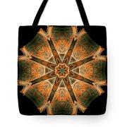 Folded 8-pointed Kaleidoscope Image Tote Bag