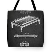 Folding Billiard Table Patent From 1887 - Charcoal Tote Bag