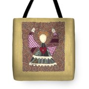 Folk Angel Tote Bag