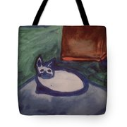 Folk Art Cat Tote Bag