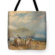 Folkestone Harbour And Coast To Dover Tote Bag