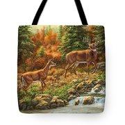 Whitetail Deer - Follow Me Tote Bag