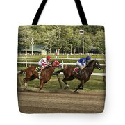 Follow Me To The Finish Tote Bag