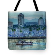 Follow That Boat Tote Bag