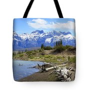 Following The Athabasca River Tote Bag