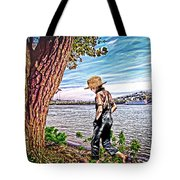 Following The River Tote Bag