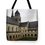 Fontevraud Abbey Courtyard -  France Tote Bag