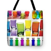 Food Coloring Ensemble Wide-rainbow Theme Tote Bag