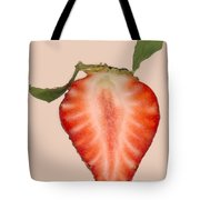 Food - Fruit - Slice Of Strawberry Tote Bag by Mike Savad