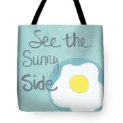 Food- Kitchen Art- Eggs- Sunny Side Up Tote Bag by Linda Woods