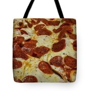 Food - Pepperoni Pizza Tote Bag