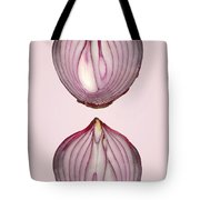 Food - Vegetable - Cross Section Of A Red Onion Tote Bag