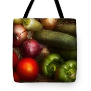 Food - Vegetables - Onions Tomatoes Peppers And Cucumbers Tote Bag