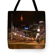 Foot Bridge By Night Tote Bag