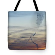 Foot In The Sky Tote Bag
