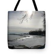 Foot Prints Along The Shore Tote Bag