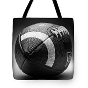 Football Black And White Tote Bag