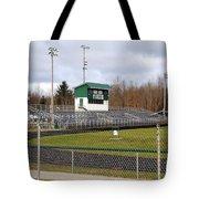 Football Field In Clare Michigan Tote Bag