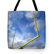 Football Goal Posts Tote Bag
