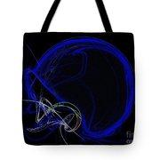 Football Helmet Blue Fractal Art Tote Bag