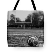 Football In Black And White Tote Bag