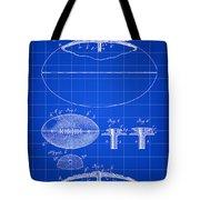 Football Patent 1902 - Blue Tote Bag