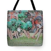Football Playing Hard 3 Panel Composite Digital Art 01 Tote Bag
