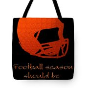 Football Season Should Be Year Round In Orange Tote Bag by Andee Design