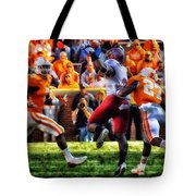 Football Time In Tennessee Tote Bag
