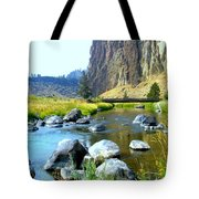 Footbridge At Smith Rock Tote Bag