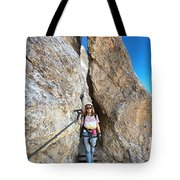 Footbridge On Via Ferrata Tote Bag