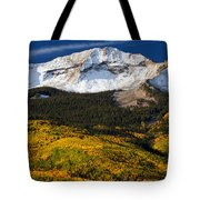 Foothills Of Gold Tote Bag by Darren  White