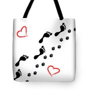 Sleep Walking The Dog Tote Bag