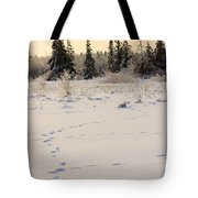 Footprints In Fresh Snow Tote Bag