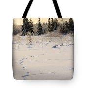 Footprints In Fresh Snow Tote Bag