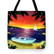 Footprints In Paradise Tote Bag