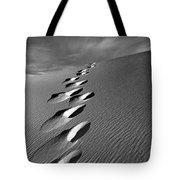Footprints In Sand Tote Bag