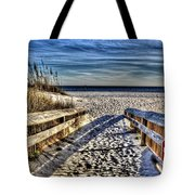 Footprint's In The Sand Tote Bag