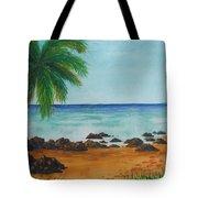 Footprints On Los Pinones Beach Pr Tote Bag