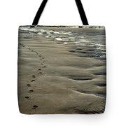 Footprints On The Beach Tote Bag