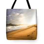 Footsteps In The Sand Tote Bag
