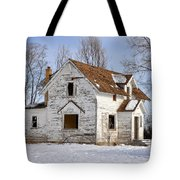Footsteps In The Snow Tote Bag